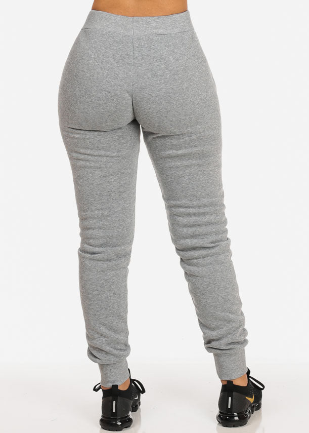High Waisted Grey Jogger Pants