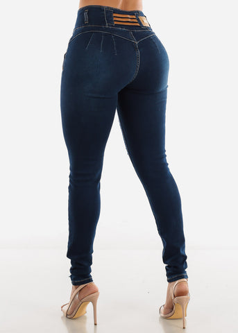 Image of Levanta Cola Ripped Dark Blue Jeans