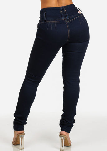 High Rise Levanta Cola Dark Wash Jeans