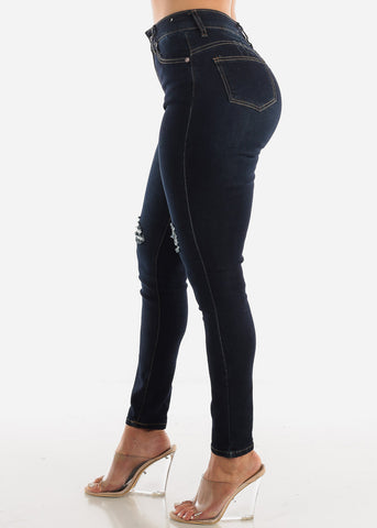 Image of High Rise Distressed Butt Lift Jeans