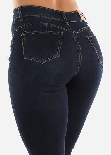 High Rise Distressed Butt Lift Jeans