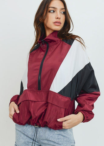 Colorblock Windbreaker Jacket