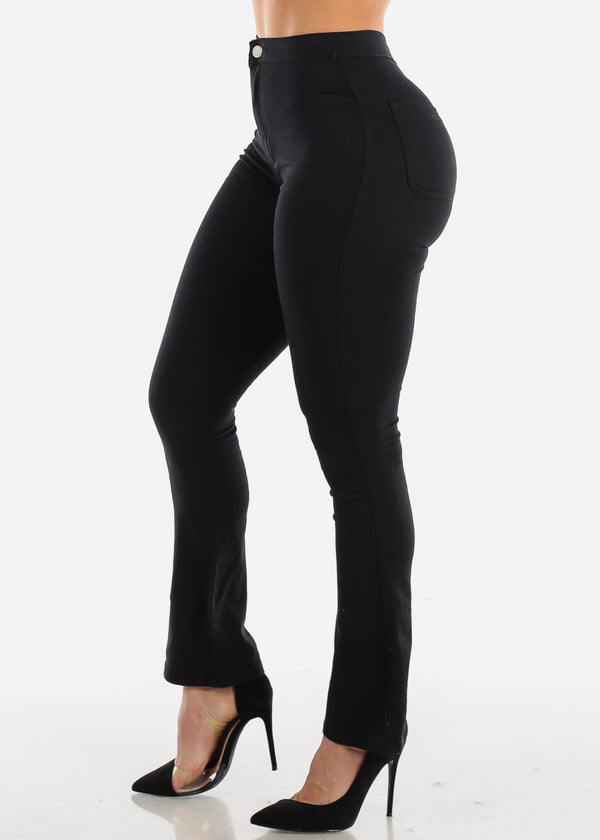 High Rise Black Wide Legged Jeans