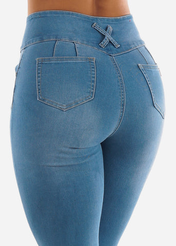 Light Blue Butt Lifting Capris