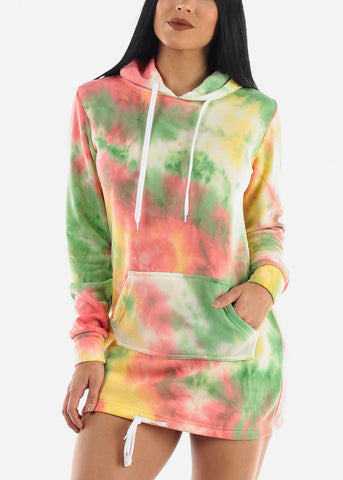 Image of Bright Tie Dye Dress