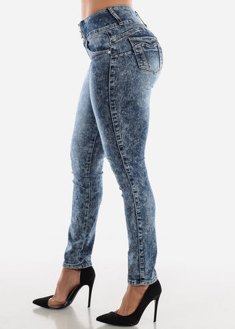 Image of Acid Wash Butt Lift Jeans