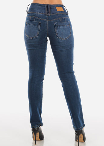Image of High Waist Dark Wash Bootcut Jeans