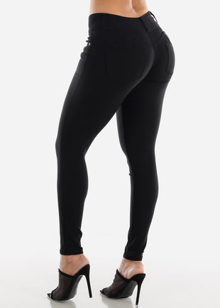 Black Butt Lifting Jegging Skinny Pants