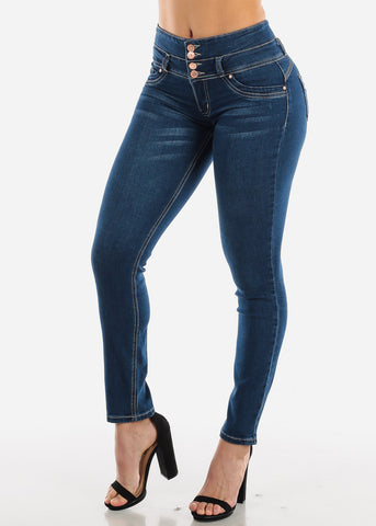 Dark Wash Levanta Cola Skinny Jeans