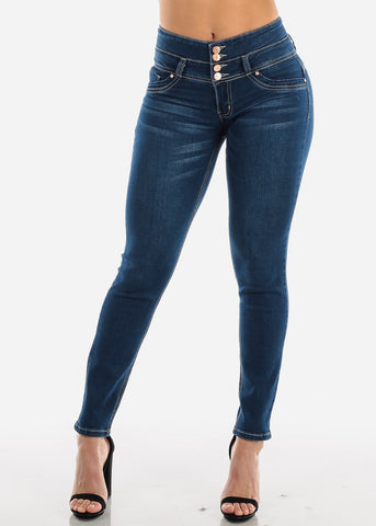 Image of Dark Wash Levanta Cola Skinny Jeans