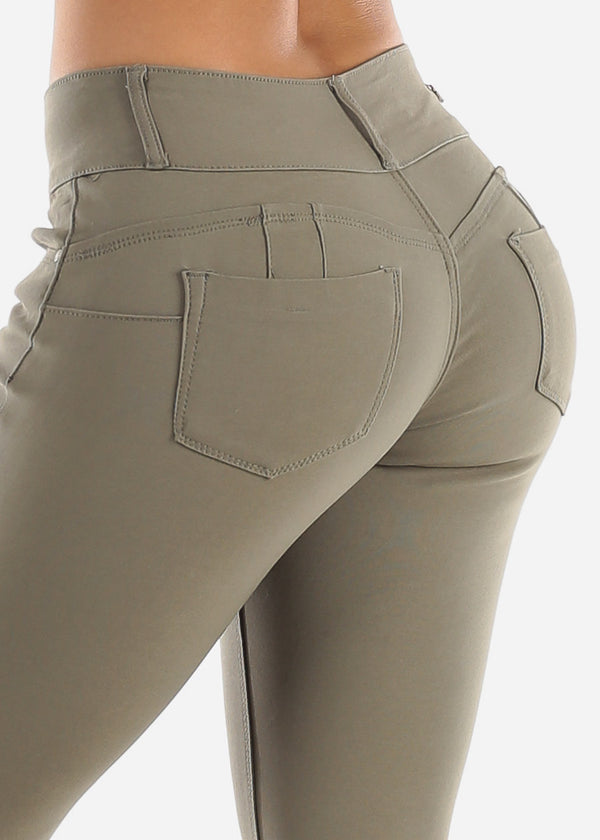 Olive Butt Lifting Jegging Skinny Pants