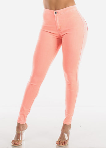 Coral High Rise Jegging Skinny Pants