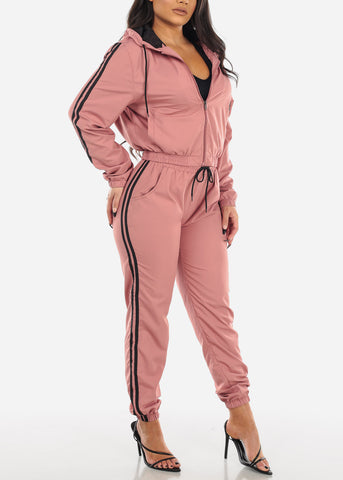 Image of Windbreaker Mauve Tracksuit (2 PCE SET)