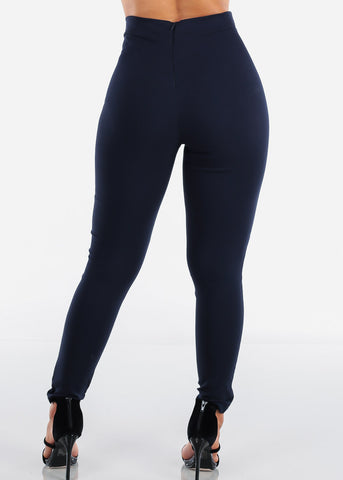 Navy High Rise Skinny Pants