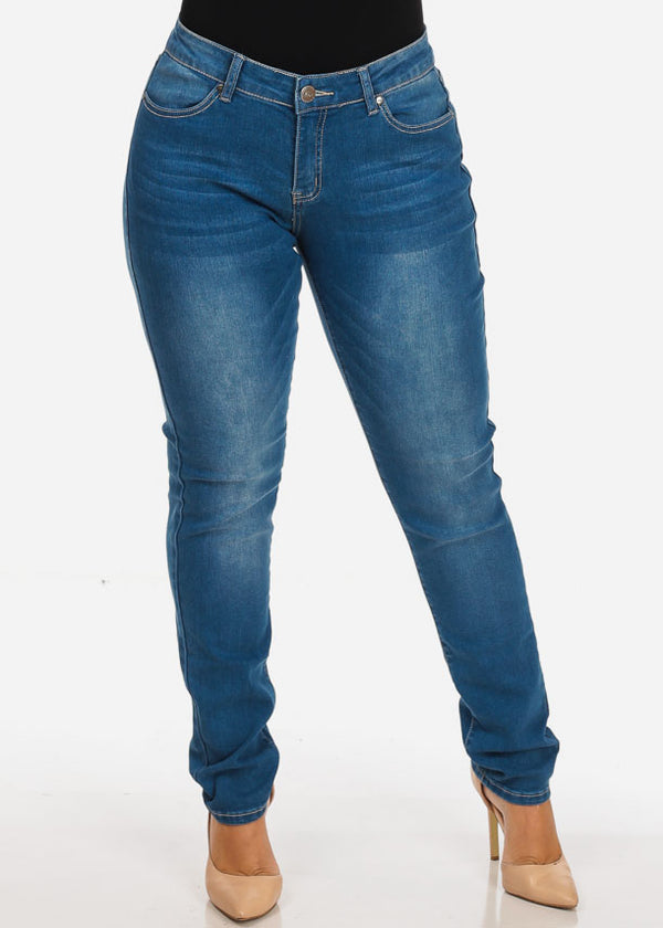 MX Plus Size Med Wash Skinny Jeans