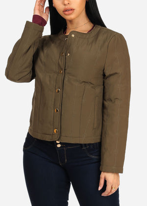 Olive Button Up Jacket