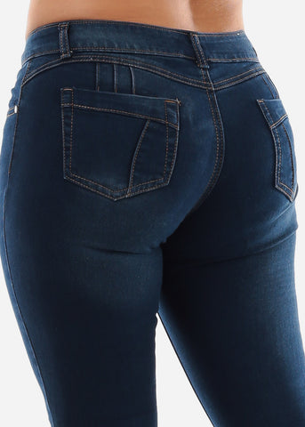 Image of Dark Wash Butt Lifting Skinny Jeans SIZE 13-15-17