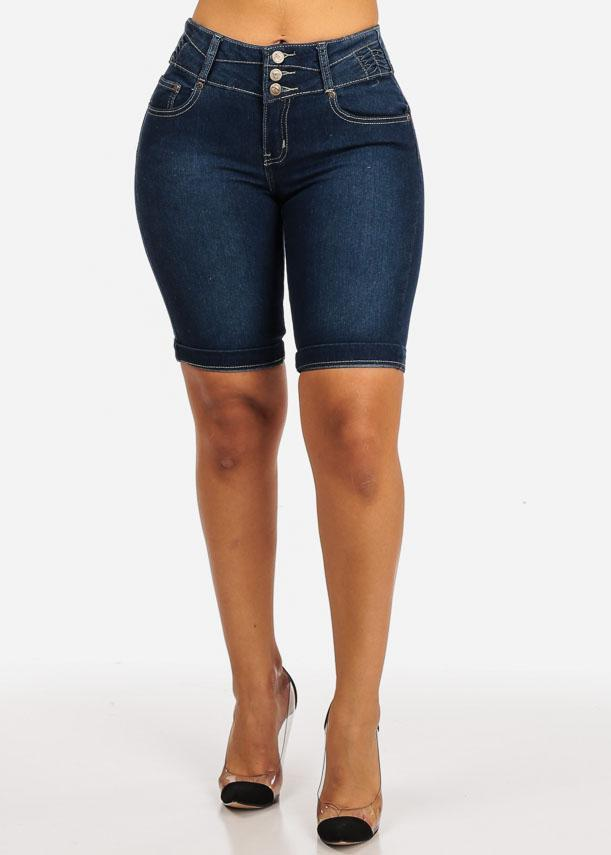 Butt Liftting High Waisted  Bermuda Shorts