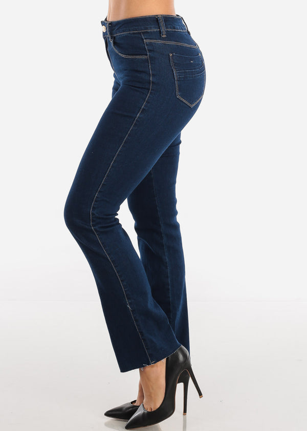 High Waisted Dark Bootcut Jeans