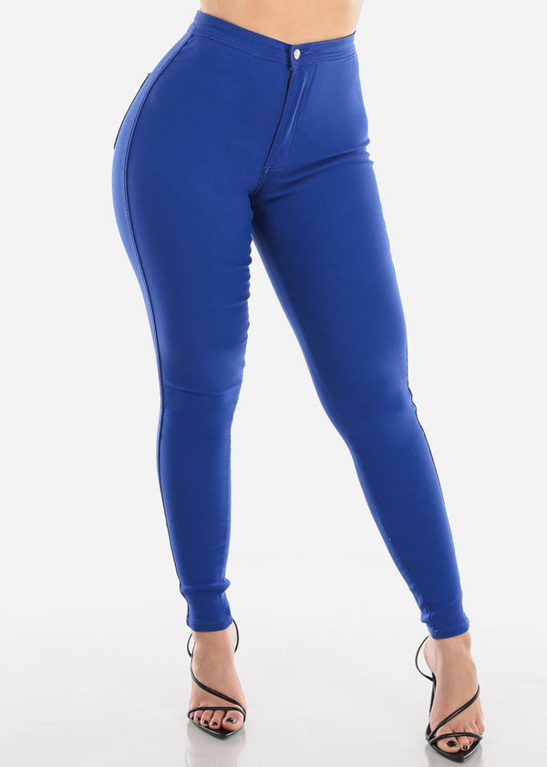 High Rise Royal Blue Jegging Skinny Pants
