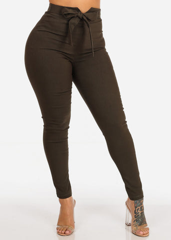 Image of Olive High Rise Skinny Pants