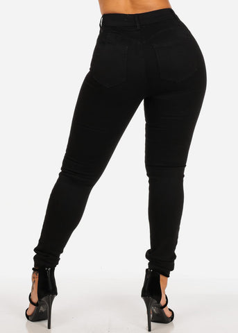 Image of Black Butt Lifting High Rise Skinny Jeans