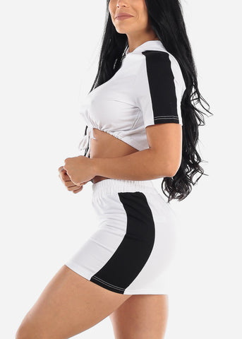 White Crop Top & Mini Skirt (2 PCE SET)