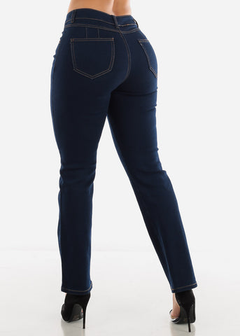 Dark Butt Lift Bootcut Jeans