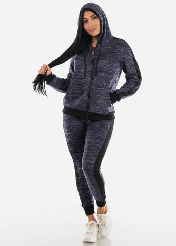 2 PC Set French Terry Hoodie Set