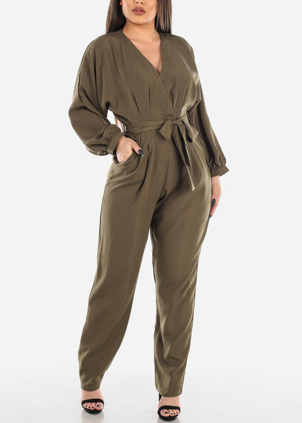 Lightweight Olive Jumpsuit