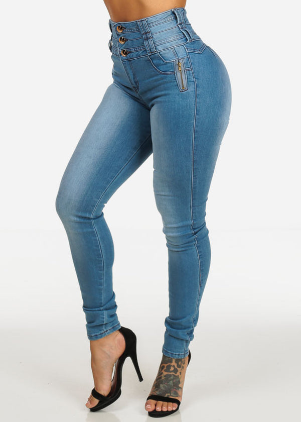 Slim Fit Light Wash Skinny Jeans