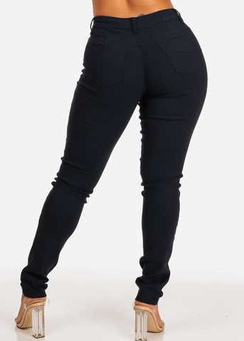 Image of Navy Butt Lifting Skinny Jeans