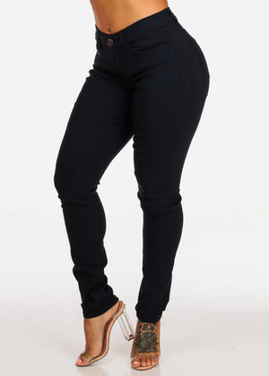 Navy Butt Lifting Skinny Jeans