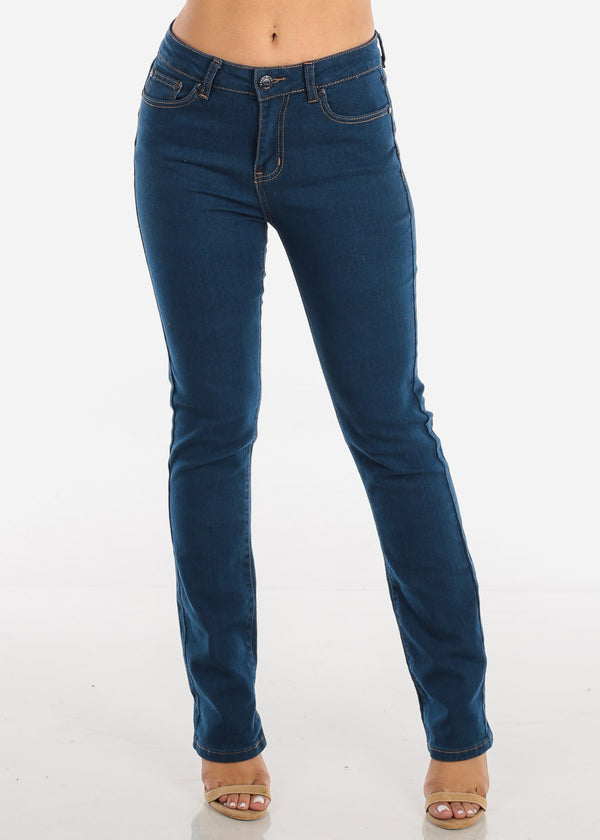 High Rise Straight Leg Butt Lifting Jeans