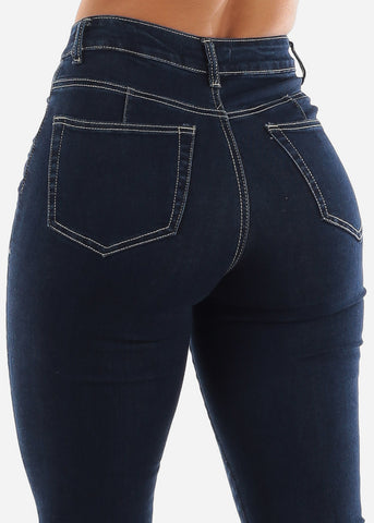 Butt Lifting Dark Navy Jeans