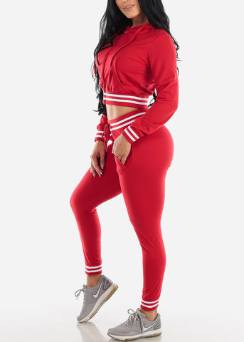 Red Hoodie & Jogger Pants (2 PCE SET)