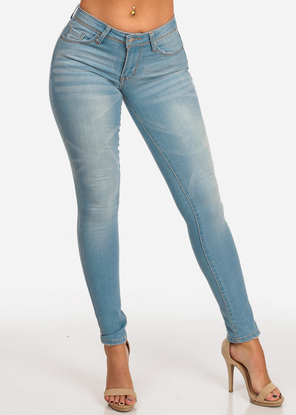 NINE PLANET blue Mid Rise Skinny Jeans