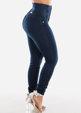 Ultra High Rise Butt Lifting Dark Skinny Jeans