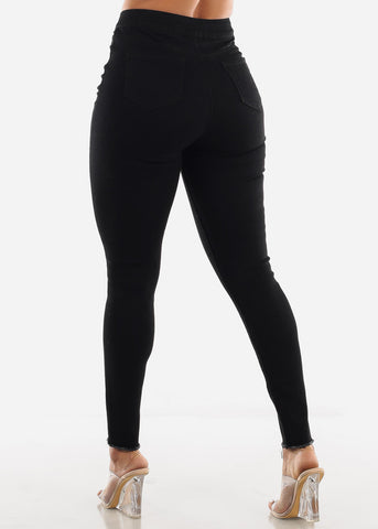 Image of Black High Waist Jeans