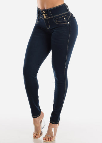 Image of Levanta Cola Dark Navy Skinny Jeans
