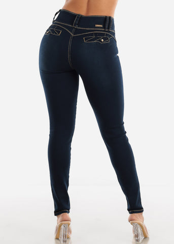 Levanta Cola Dark Navy Skinny Jeans
