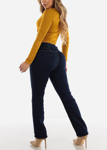 Ultra High Rise Levanta Cola Dark Wash Jeans