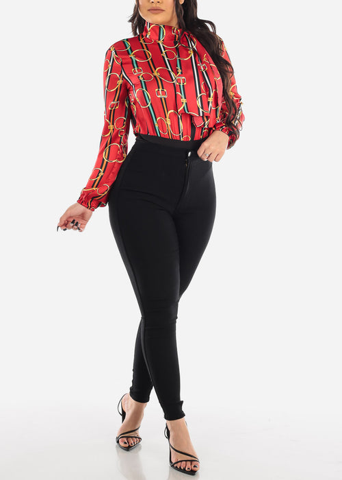 High Rise Black Jegging Skinny Pants