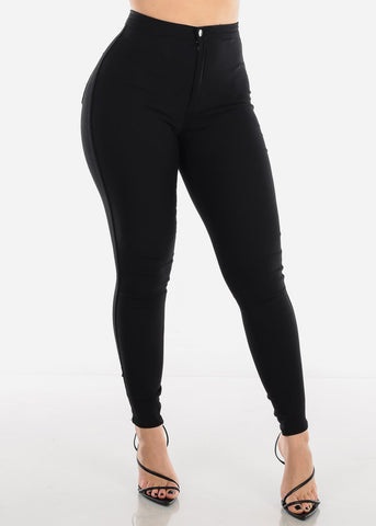 Image of High Rise Black Jegging Skinny Pants