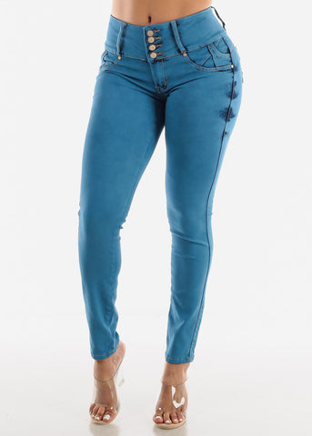 Image of Butt Lift Chain Pocket Design Jeans