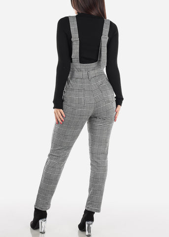 Houndstooth Overall Jumpsuit
