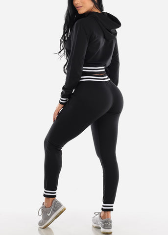 Image of Black Hoodie & Jogger Pants (2 PCE SET)