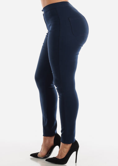 High Rise Navy Jegging Skinny Pants