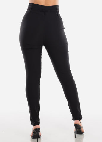 High Rise Black Skinny Pants