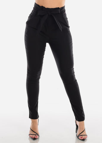 Image of High Rise Black Skinny Pants